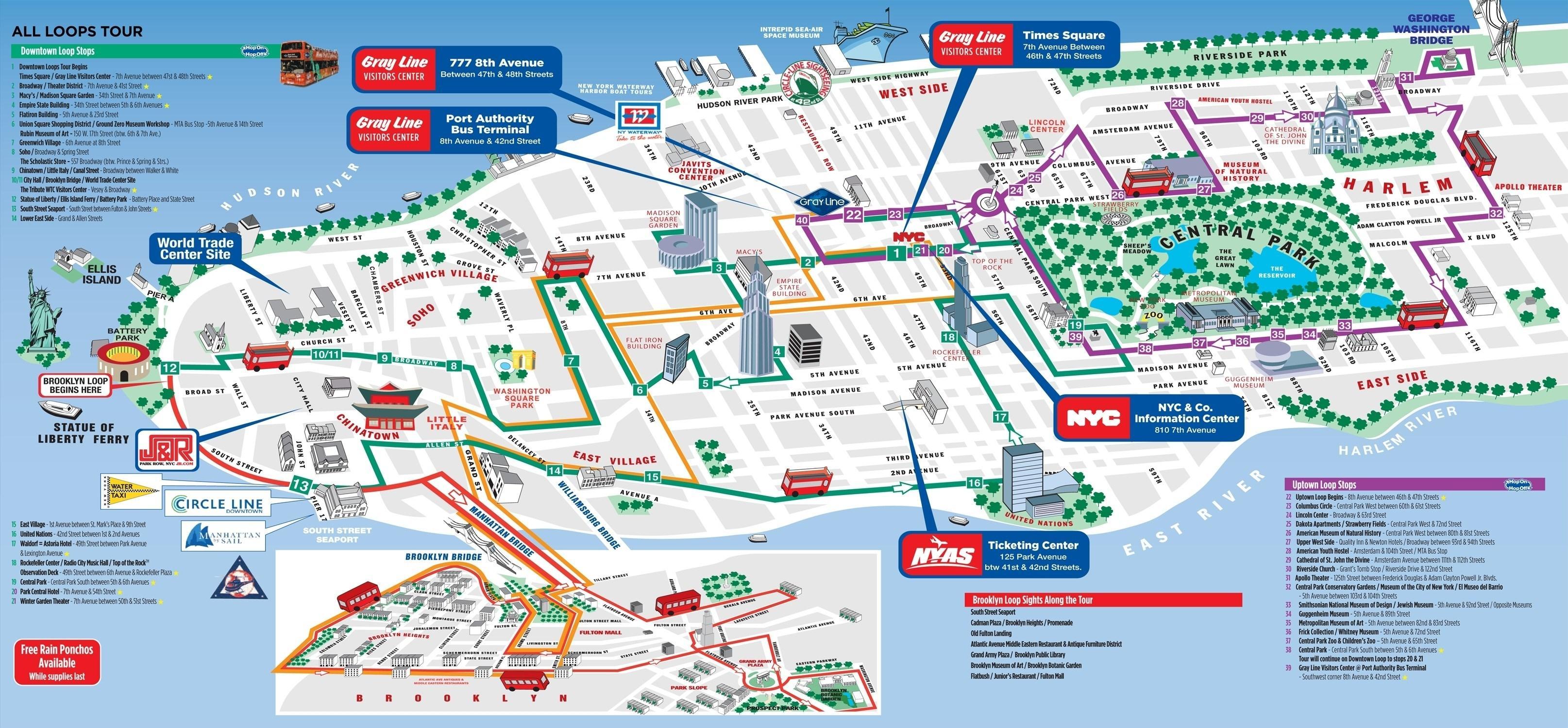 New York Mapa Turistico.Manhattan Mapa Turistico Manhattan Atracciones Turisticas Mapa Nueva York Estados Unidos